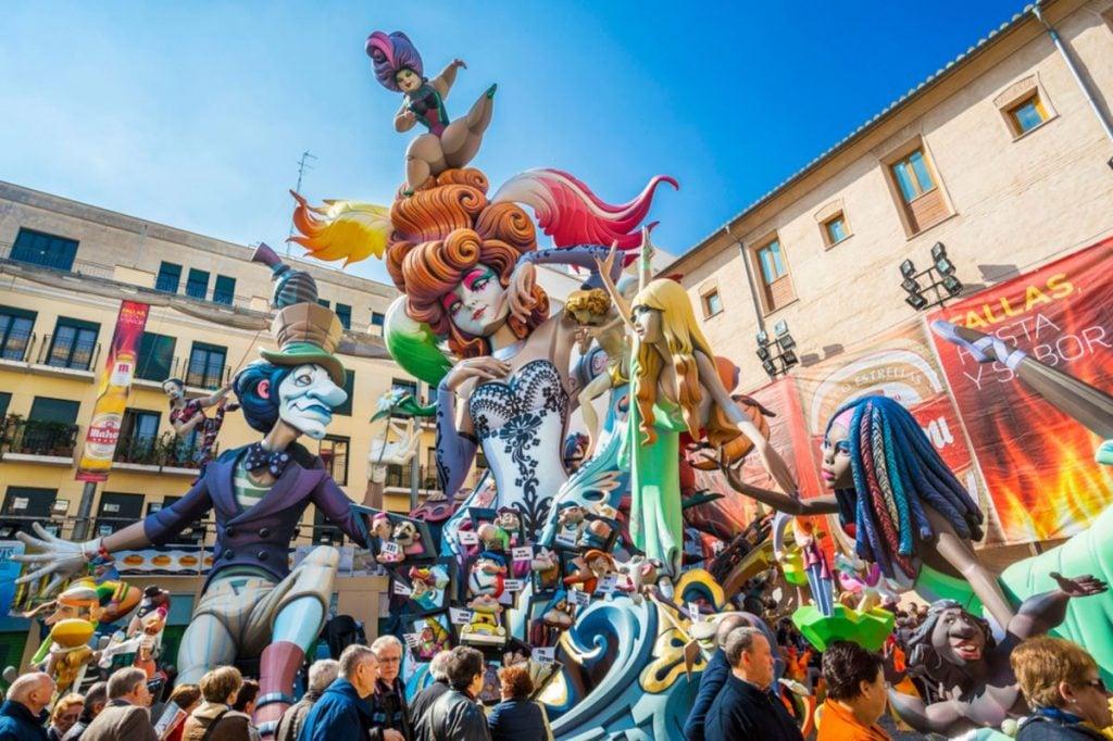 Las Fallas De Valencia, the Festival of Fire in Spain