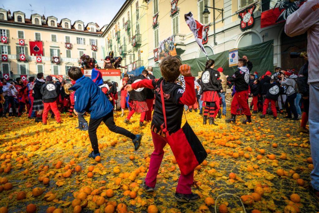 Battle of the Oranges in Ivrea