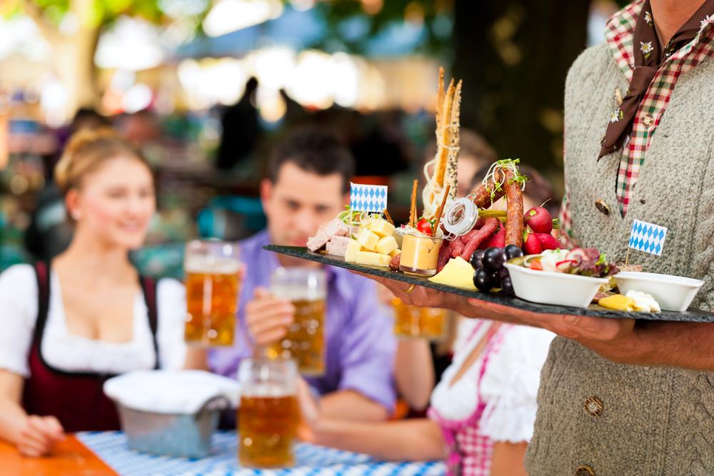Beer garden in Bavaria, German