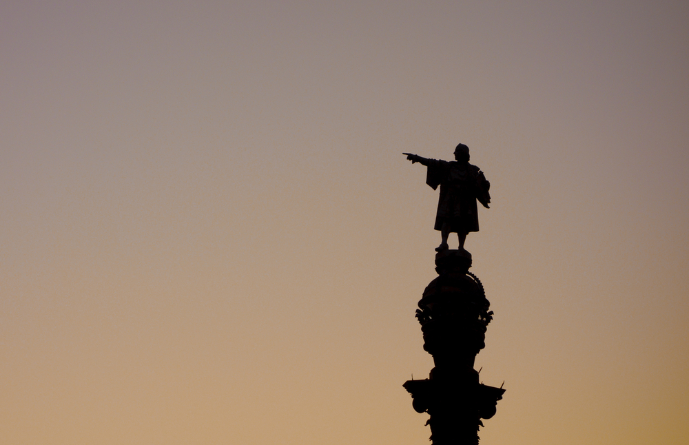 Christopher Columbus statue is one of the iconic images of Barcelona
