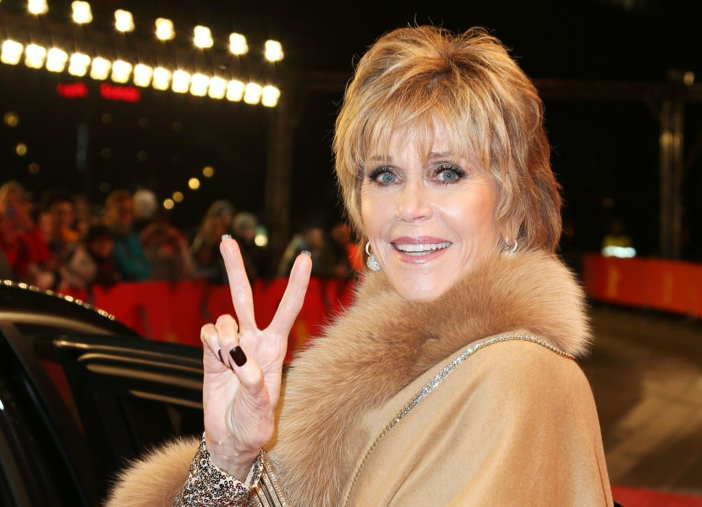 Jane Fonda Wearing Fur