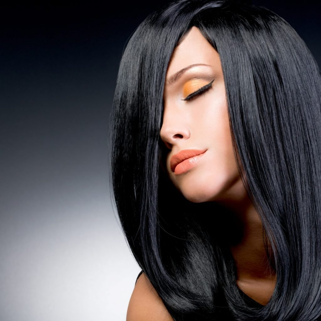 Woman with black hair