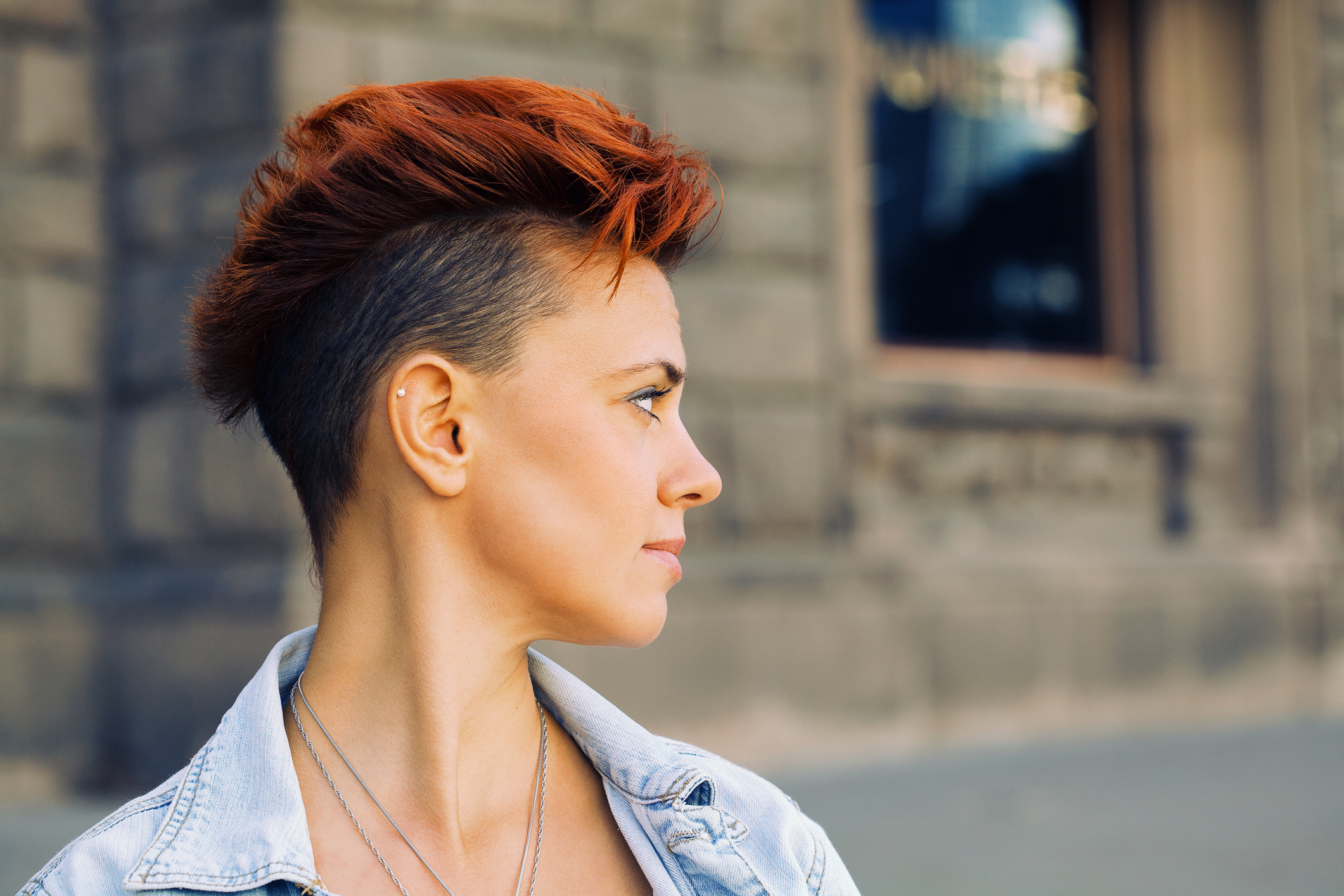 fade hairstyle dramatic mohawk