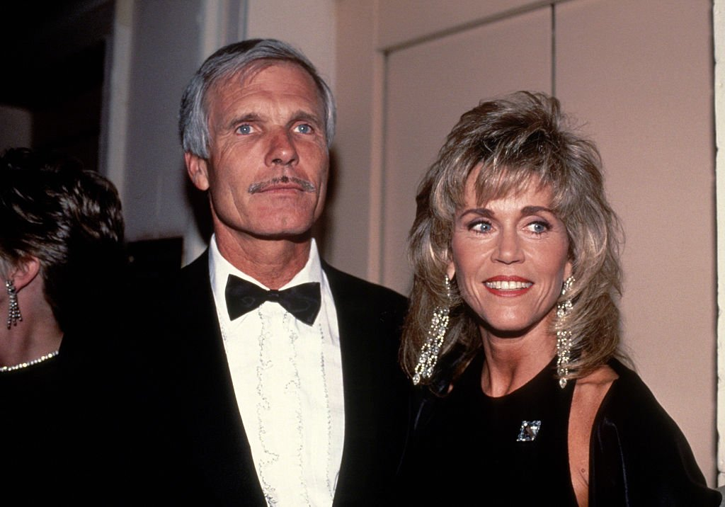 NEW YORK, NY - CIRCA 1990: Ted Turner and Jane Fonda circa 1990 in New York City. (Photo by Robin Platzer/IMAGES/Getty Images)