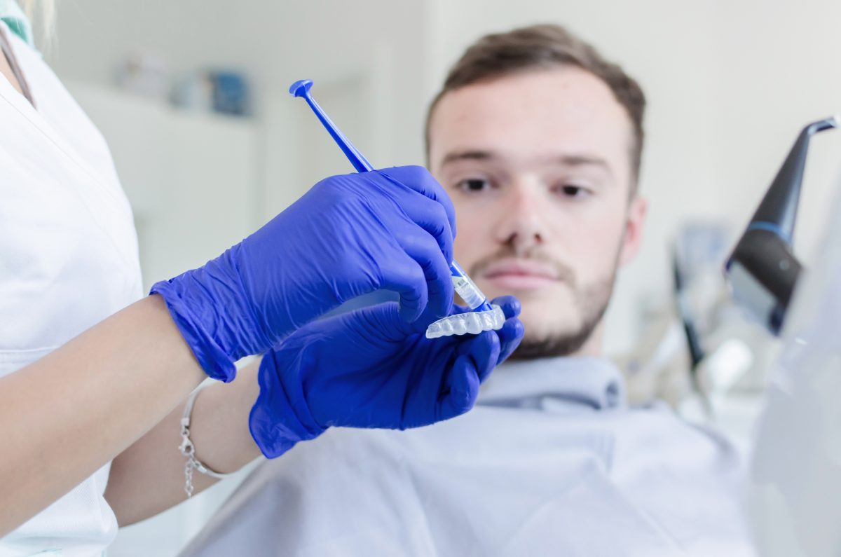 whitening tray dentist