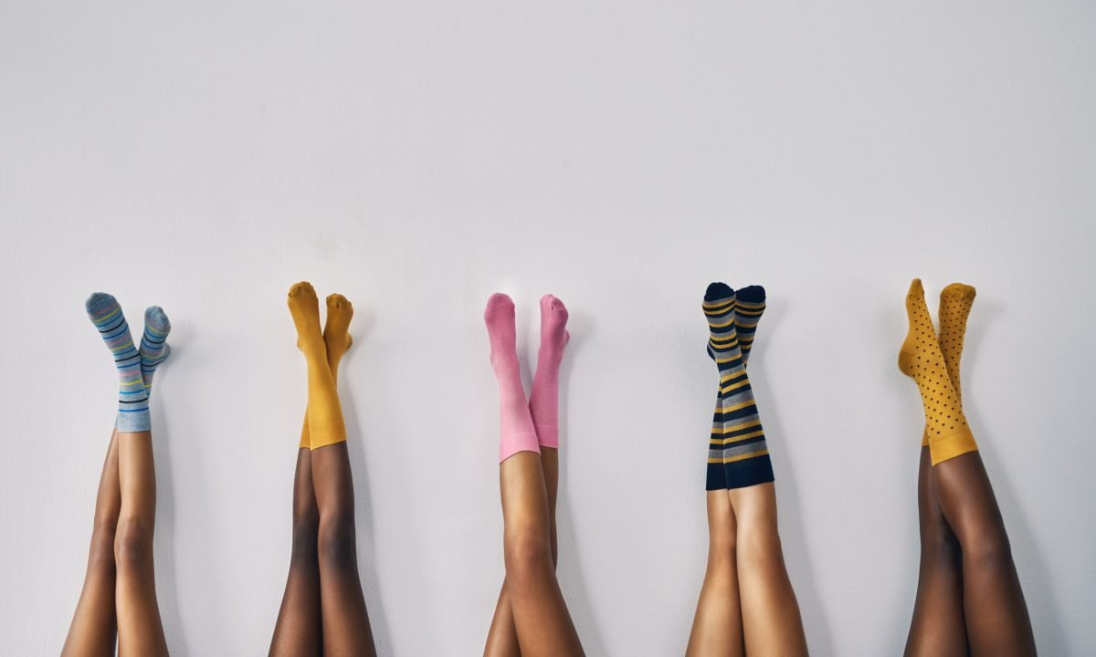 diverse races skin colors socks