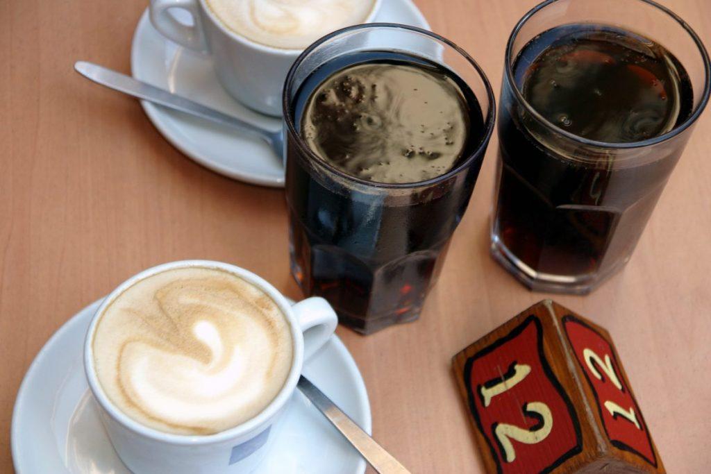 coffee soda on table
