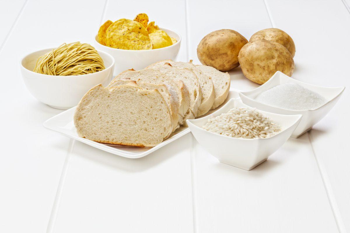 white bread rice refined carbs