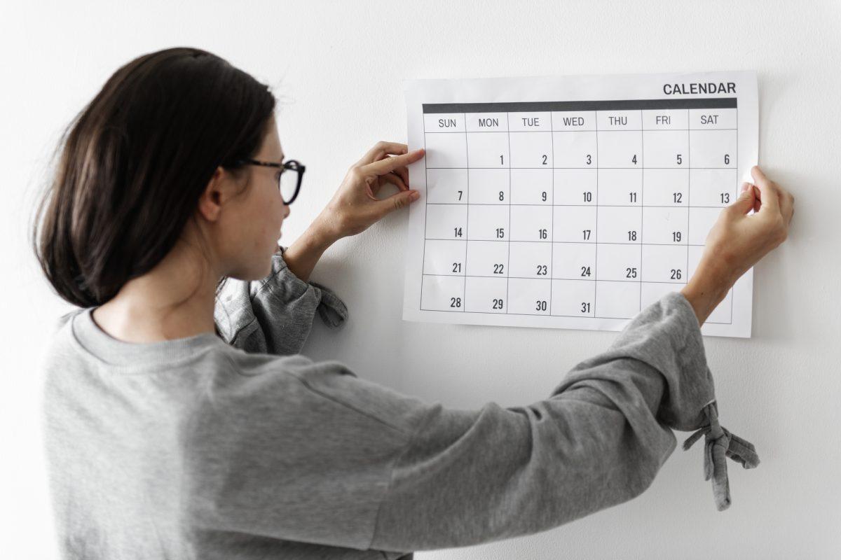 calendar procedure ongoing skincare