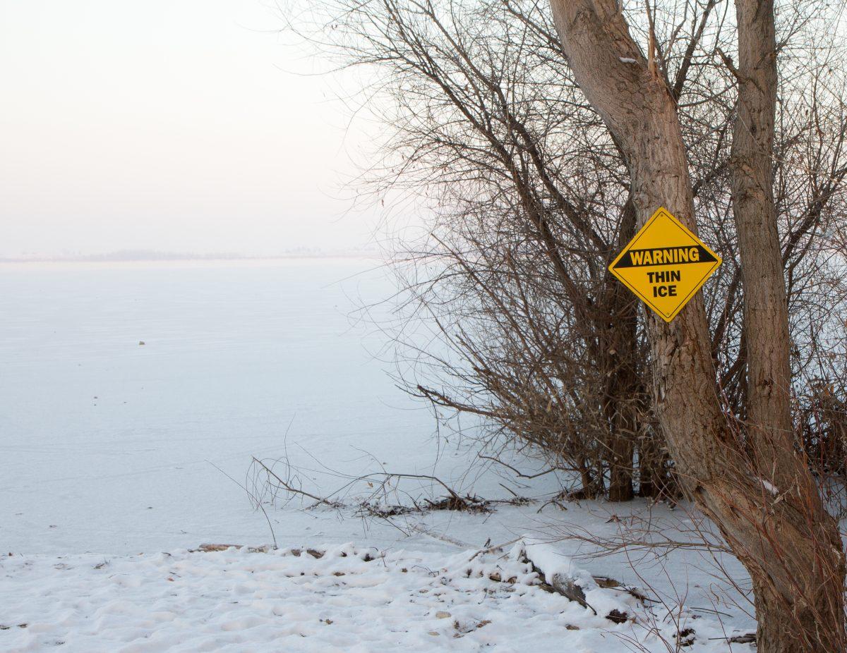 frozen lake pond danger