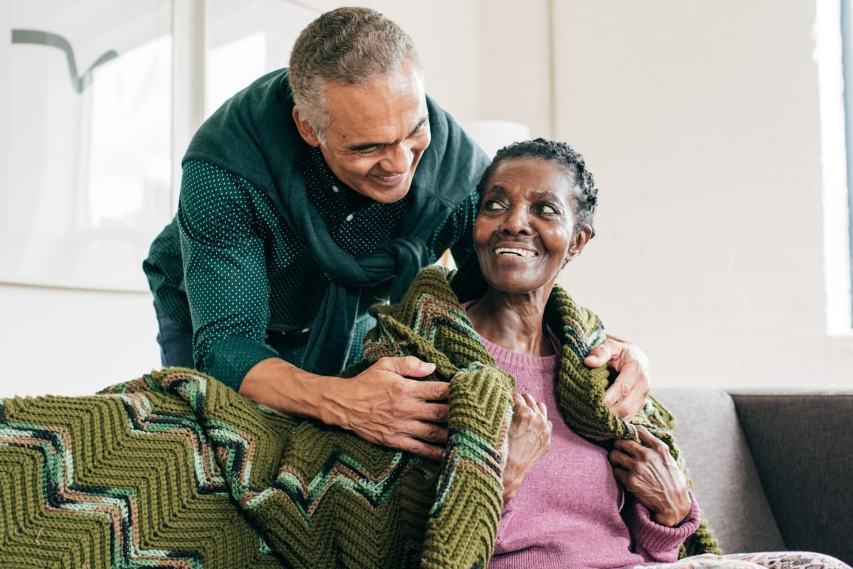 A person with dementia and her son