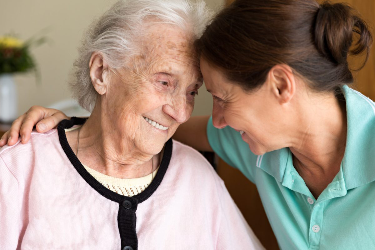 A person with dementia and carer