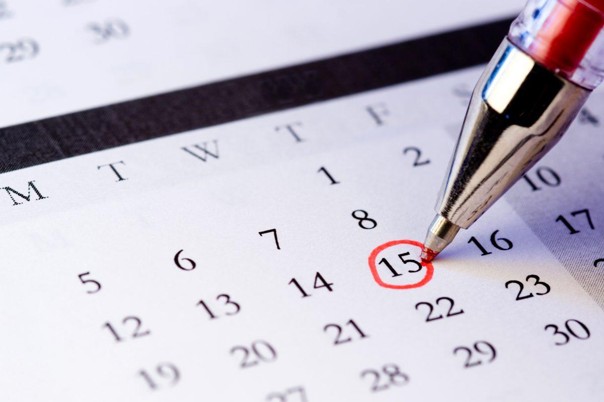 calendar circled date
