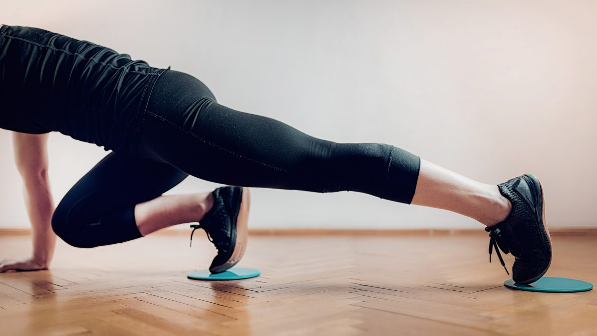 lengthen strengthen posture gliding discs