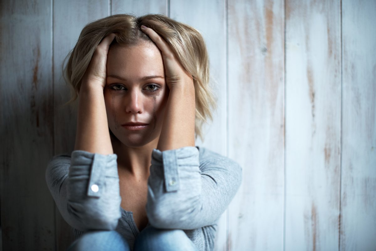 anxious/depressed woman