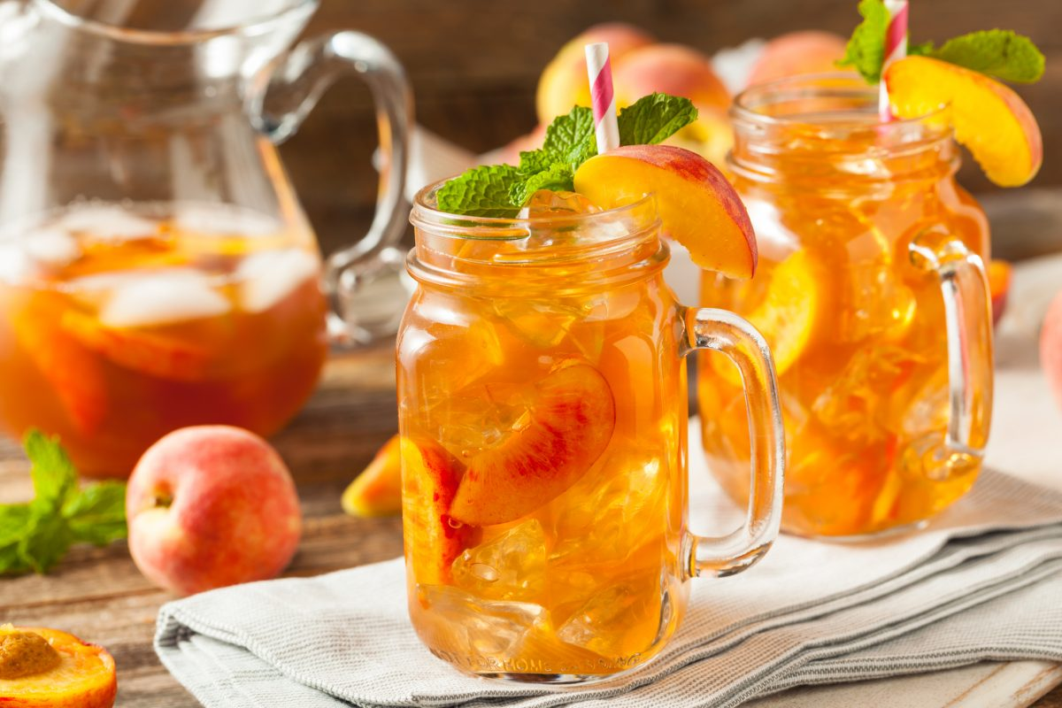 Sweet tea with peachy twist.