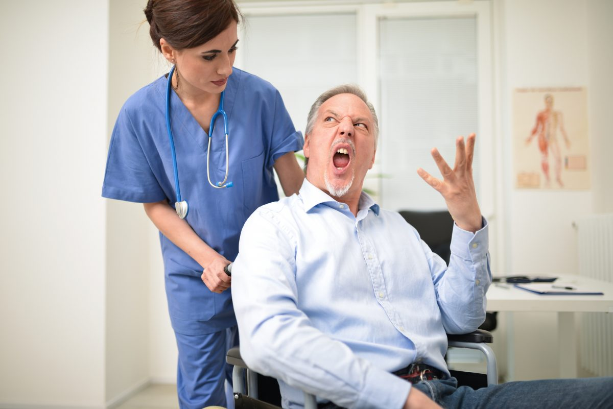 angry medical patient