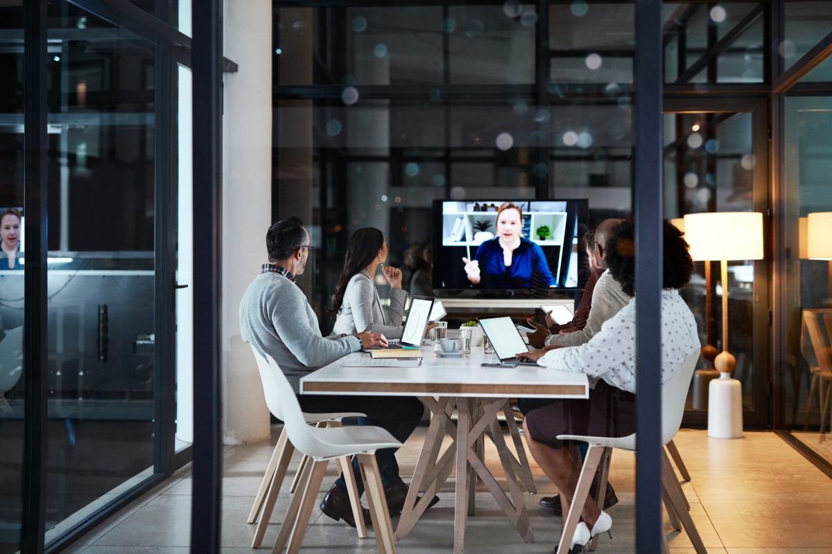 Video conference with colleagues around the world with flexible platforms like UberConference.