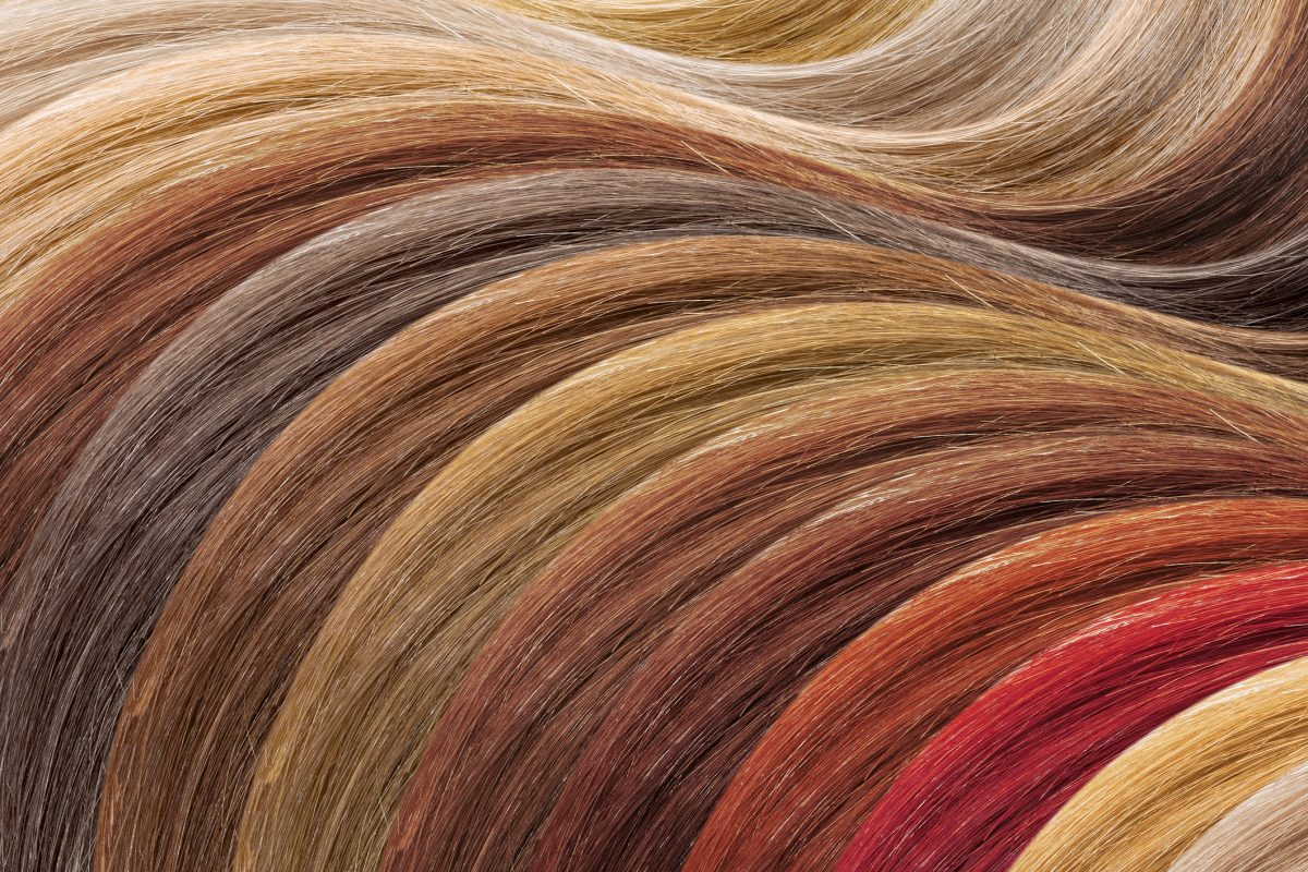 Hair dye colors choice board