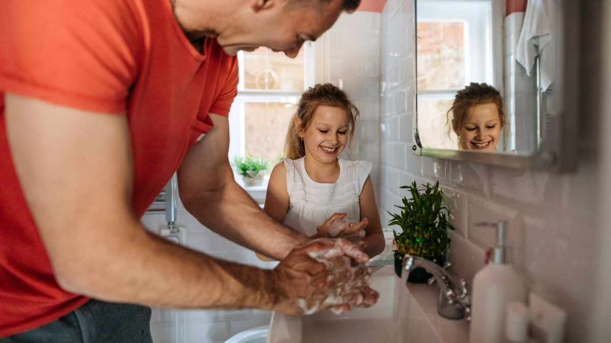 Lead by example with handwashing