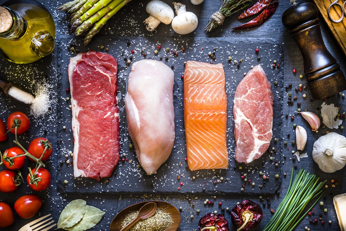 Take extra care with raw meat, poultry and fish products.