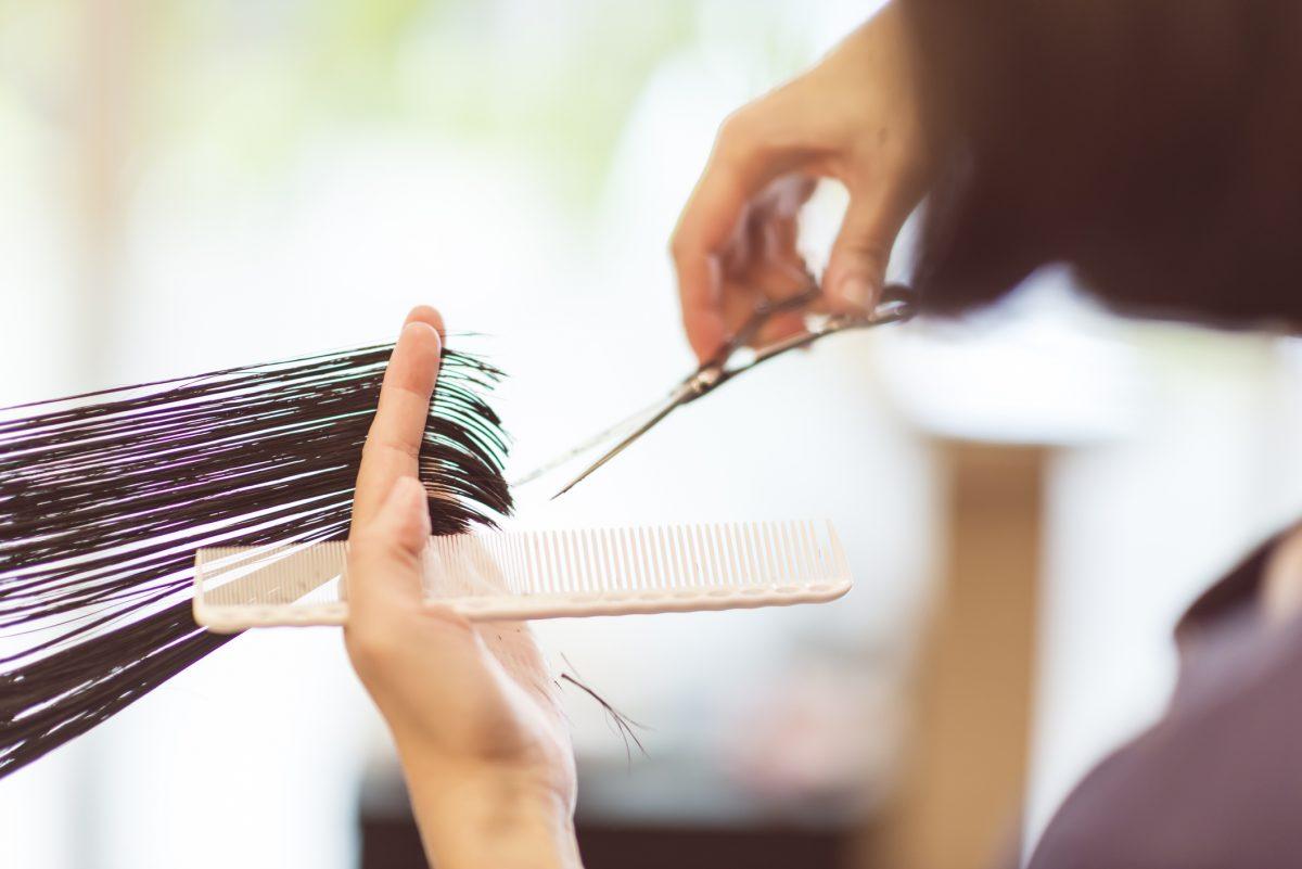 hair, cutting, comb, scissors
