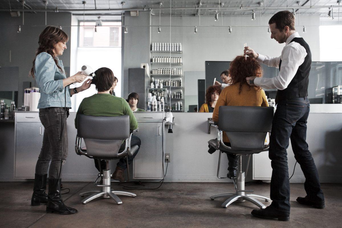 haircuts, salon, people