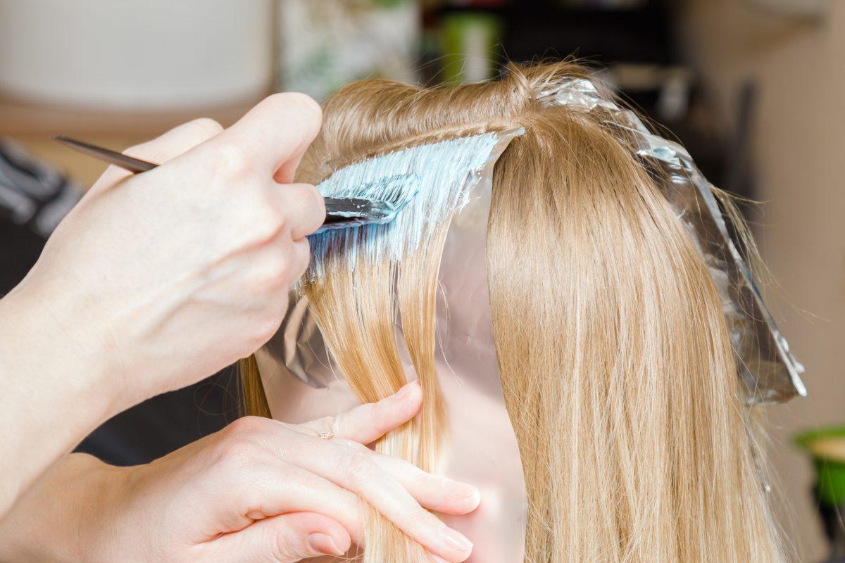 hair bleaching blonde paste