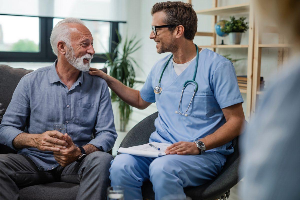 happy healthy older man doctor