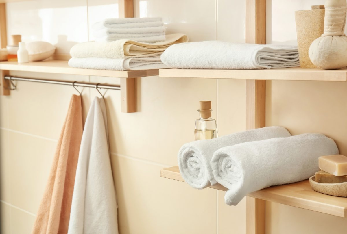 Shelves and hooks save space