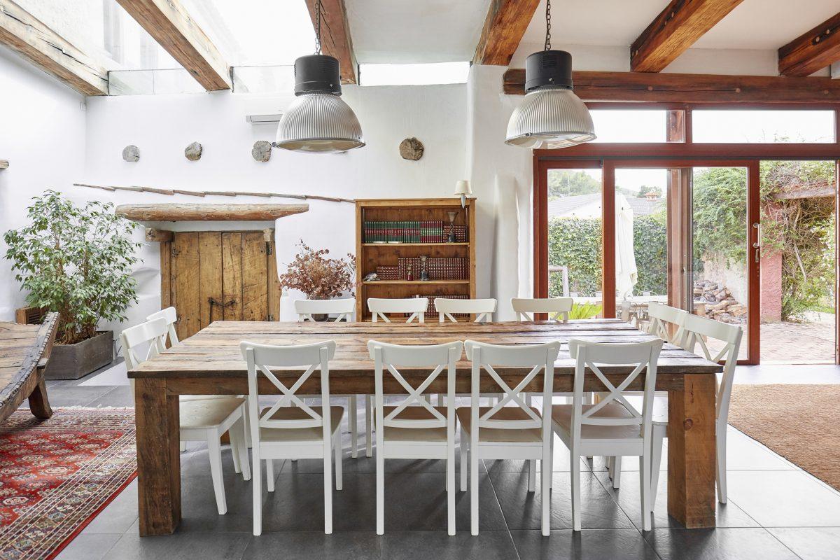 Classic rustic dining room