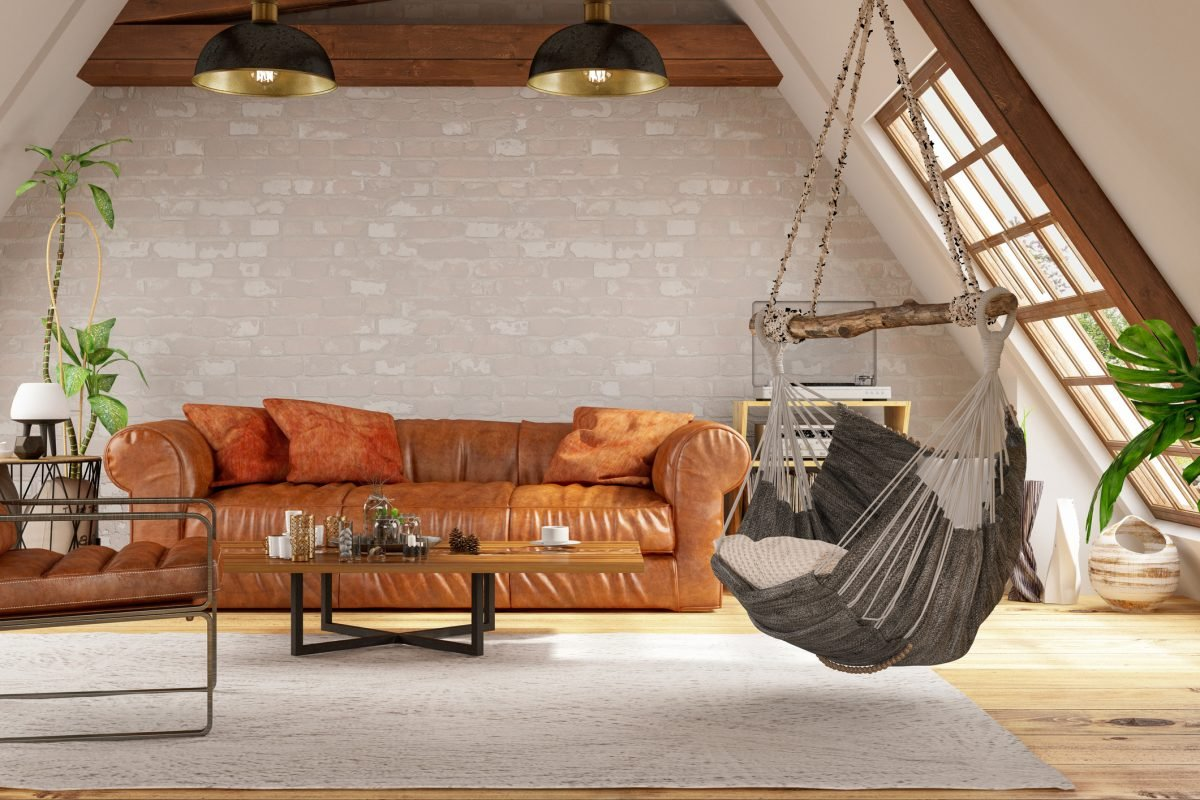 loft room bright couch