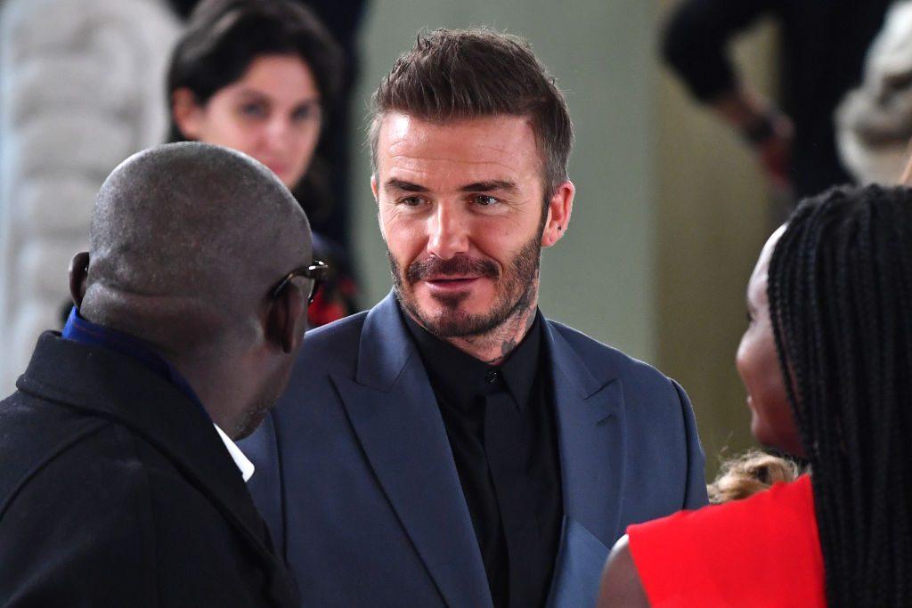 David Beckham at fashion show