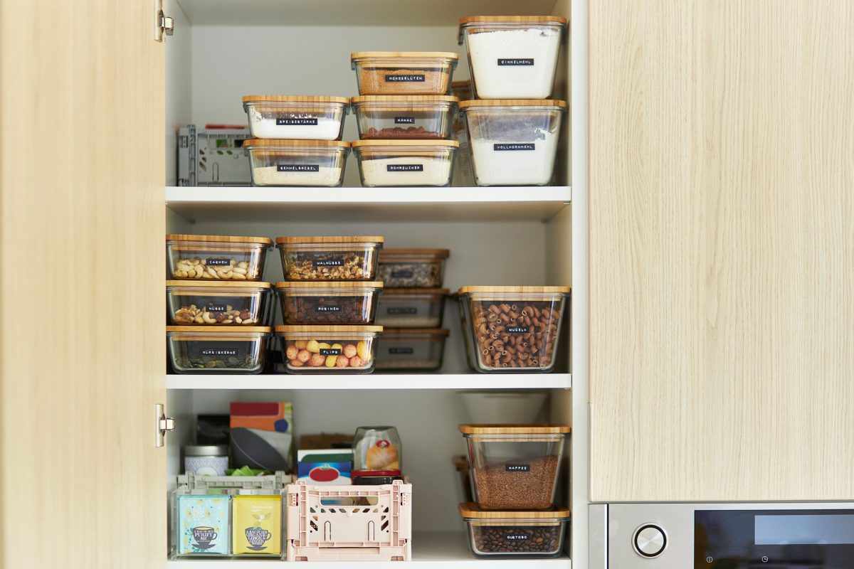 Clear containers for dry goods