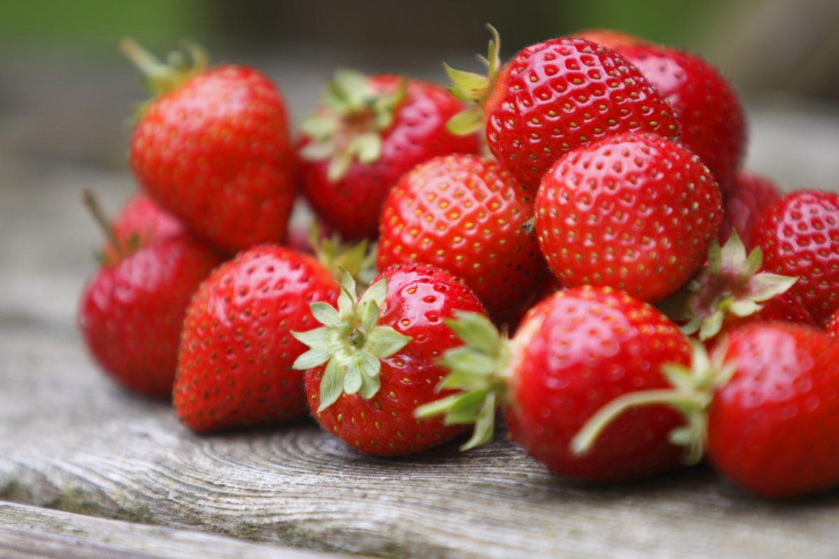 Prepared strawberries.