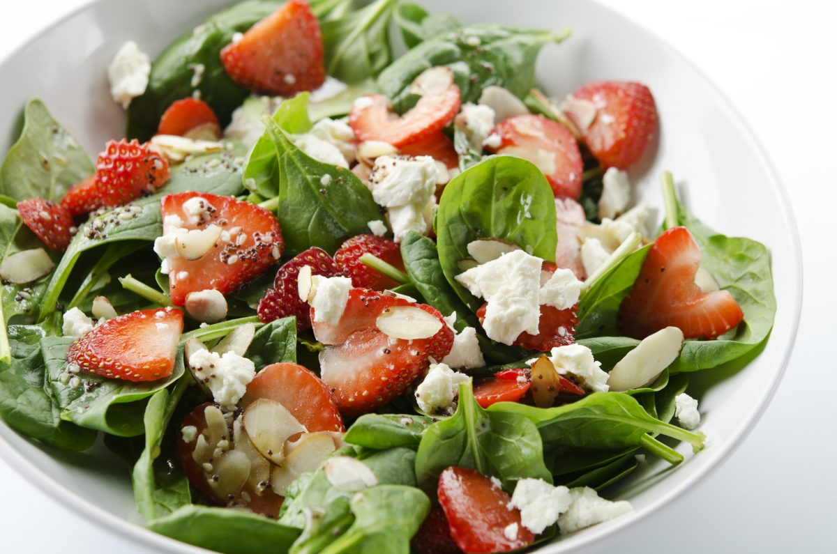 Goat cheese makes a great addition to salads.