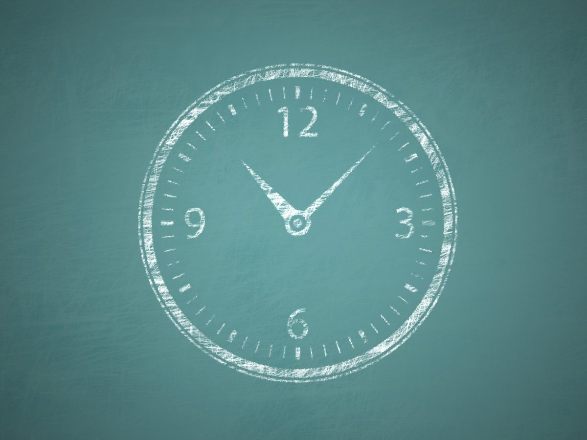 Large chalk clock