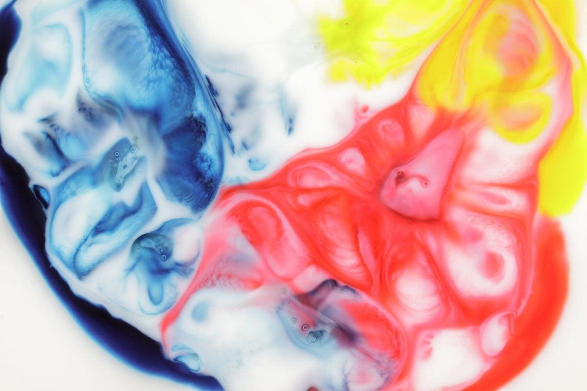 food coloring milk experiment