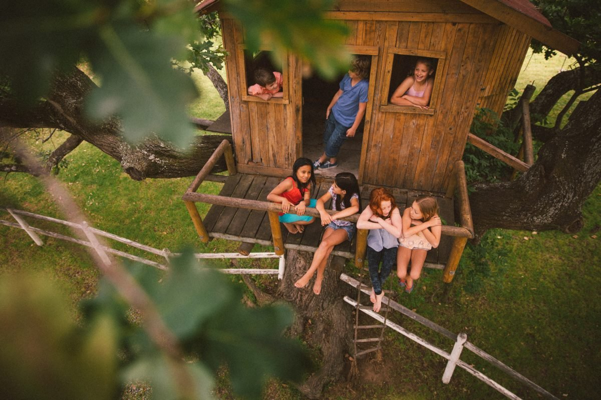 Summer days in a tree house makes for marvelous memories.