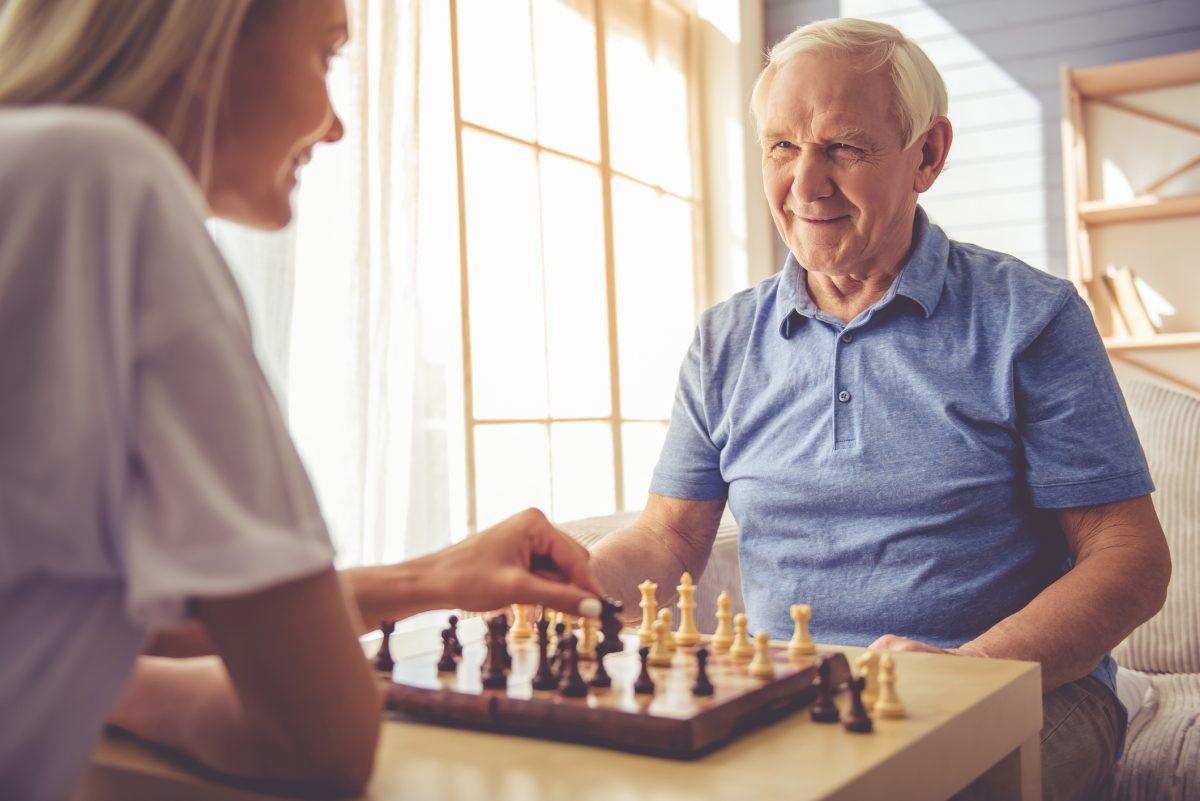 senior man independent healthy