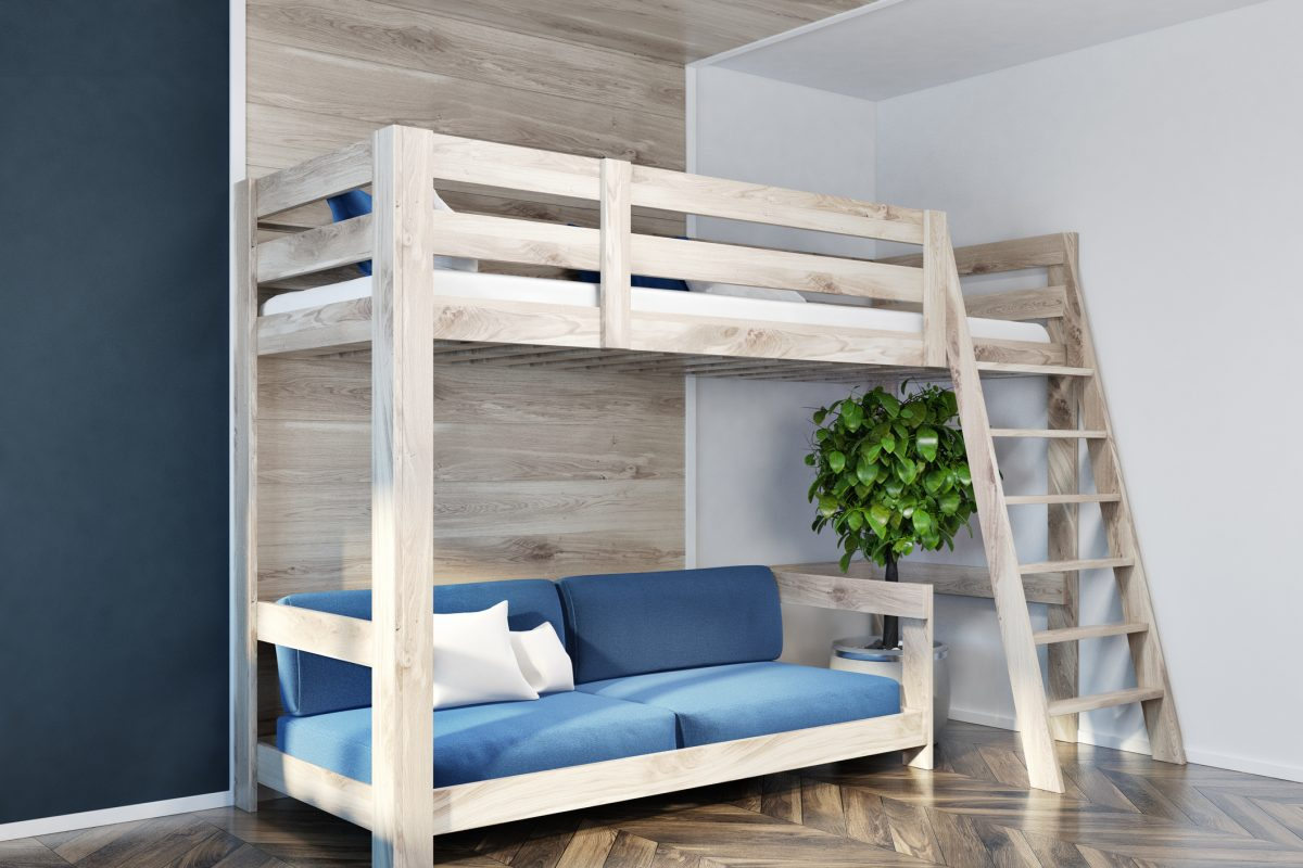 loft bed sofa space