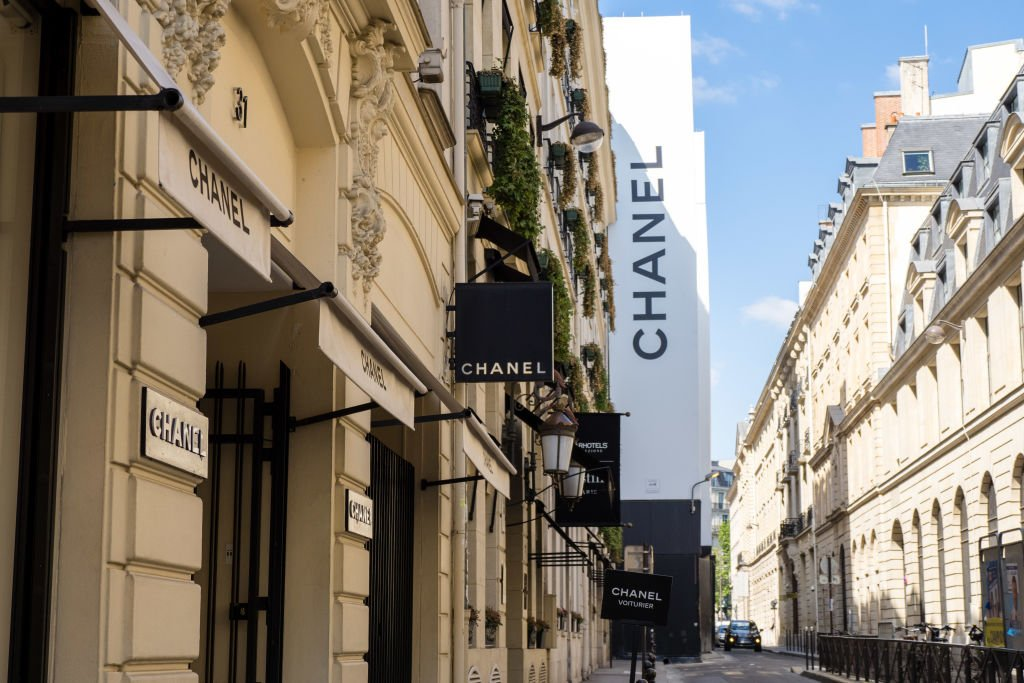 VARIOUS CITIES, FRANCE - MAY 14: General view of the open Chanel store, 31 Cambon street in the 1st quarter of Paris, on May 14, 2020 in Paris, France. The Coronavirus (COVID-19) pandemic has spread to many countries across the world, claiming over 280,000 lives and infecting over 4 million people.