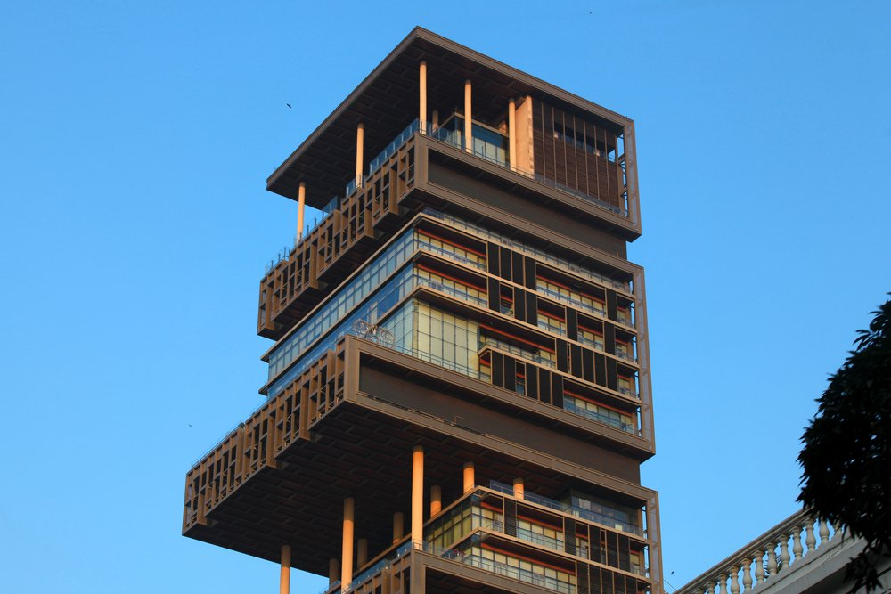 World's second most expensive residential property, also known as Antilia