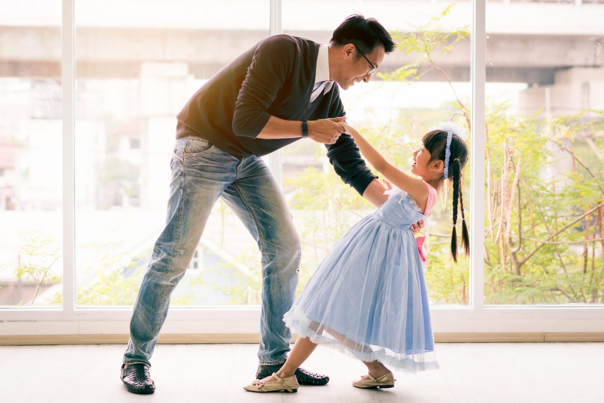 father daughter dancing fun
