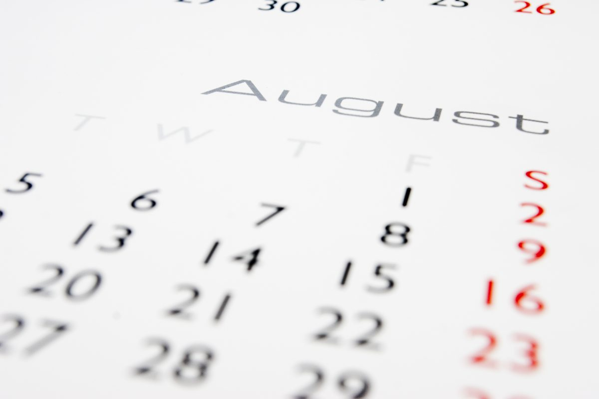 calendar august national holidays summer