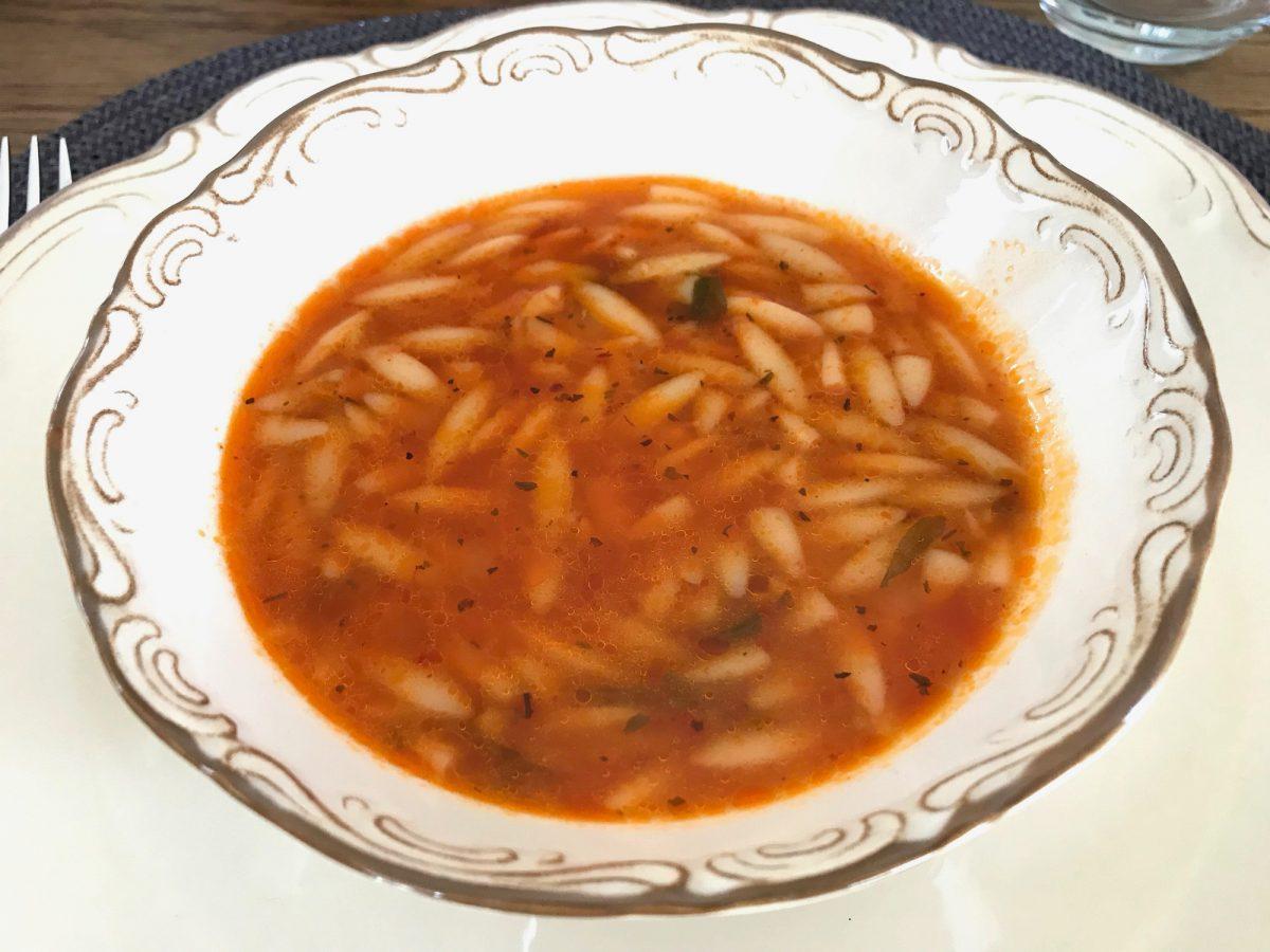 homemade barley soup with orzo