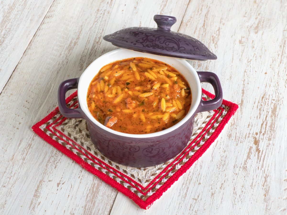 Italian sausage and orzo soup