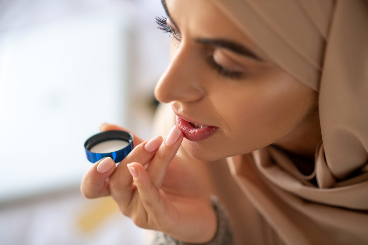 Use moisturizing balm daily