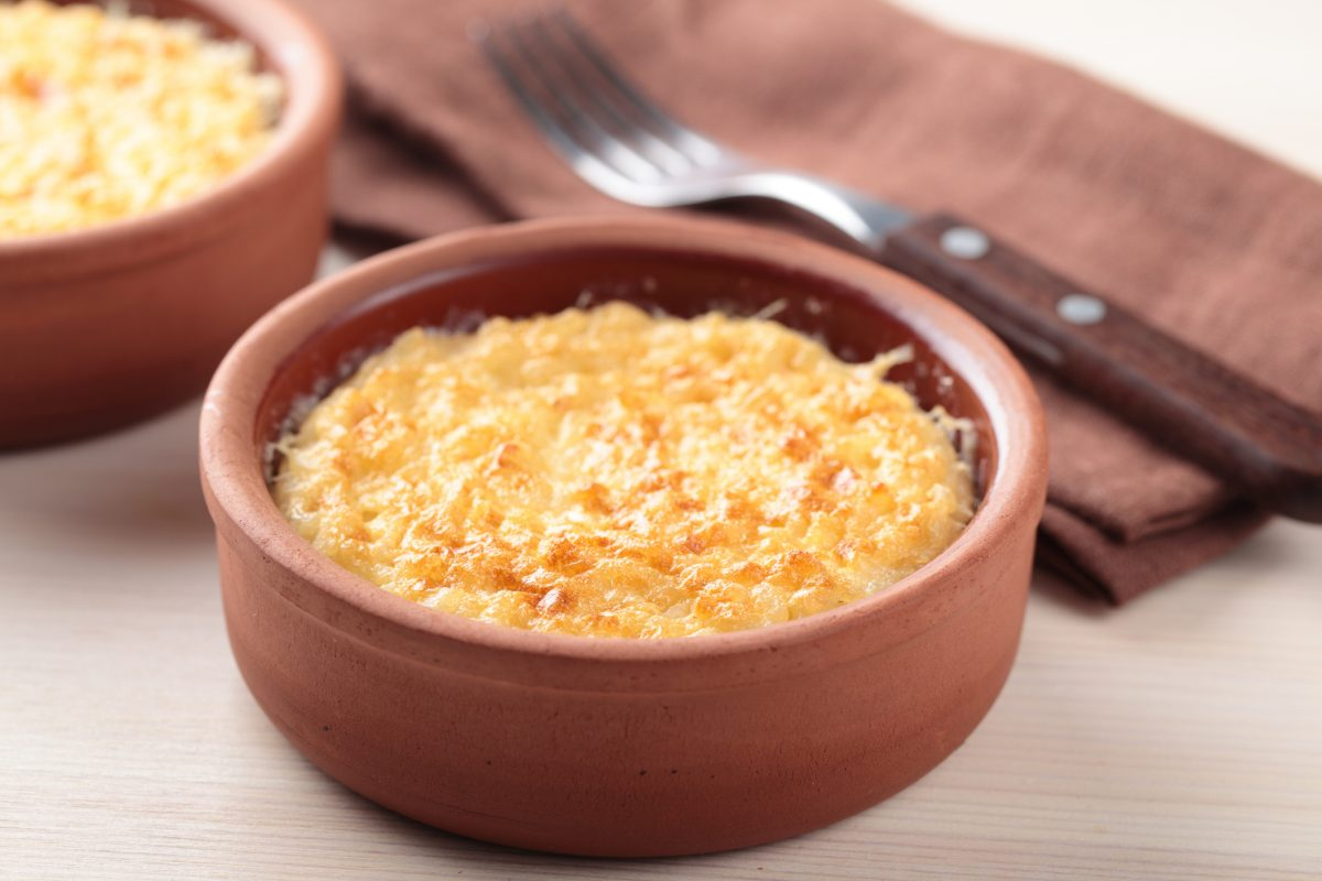 baked jasmine rice pudding