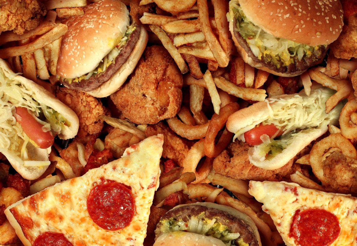 Pile of fast food